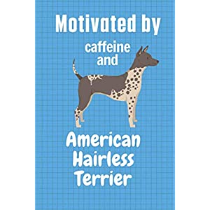 Motivated by caffeine and American Hairless Terrier: For American Hairless Terrier Dog Fans 35