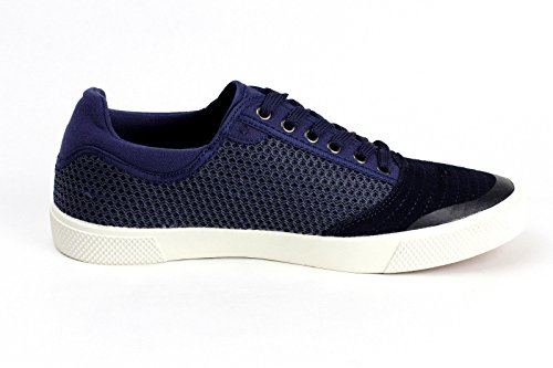 JAS Mode Herren Freizeit Schnürsenkel Leder flach fahren Schuhe Italian Mode Blau