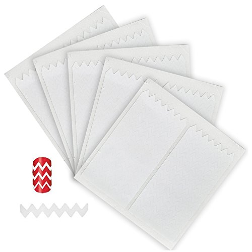 Great Value 5 Sets With 180pcs Professional Nail Art Salons Quality White Guides Stickers / Strips In Sharp Zig Zag Shapes For French Nails Manicure And Jagged Designs / Patterns Application By VAGA by VAGA