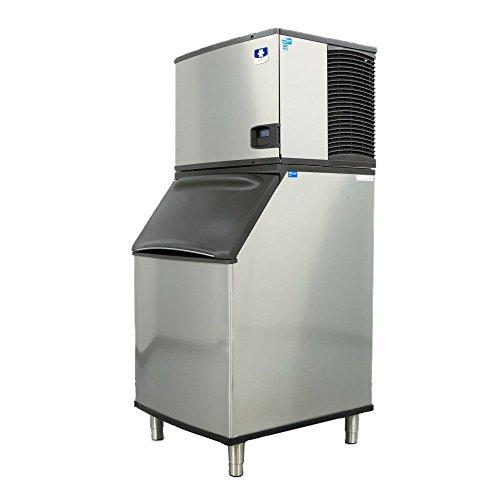 - Manitowoc IY-0504A_B-570 530 Lb Air-Cooled Half Dice Ice Machine w/Storage Bin