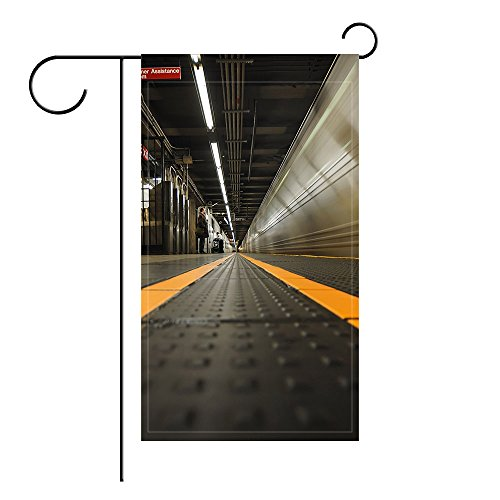 Passenger Platform (YourPink Garden Flag Station Platform Train Passenger 12x18 inches(Without Flagpole))
