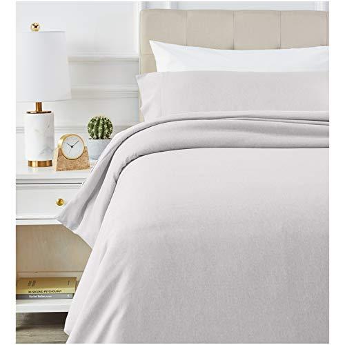 AmazonBasics - Juego de ropa de cama con funda de edredon, de microfibra, 135 x 200 cm, Gris claro