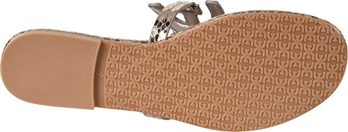 sale websites brand new unisex cheap price Sam Edelman Women's Carter Flat Sandal Pewter Metallic Boa Snake Print g7DkUT