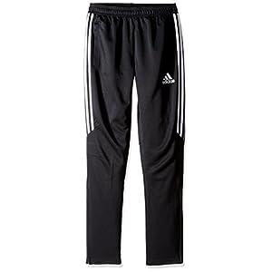 adidas Youth Soccer Tiro 17 Pants, Medium - Black/White/White