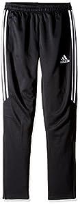 adidas Youth Soccer Tiro 17 Pants, Large - Black/White/White