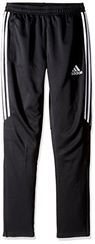adidas Youth Soccer Tiro 17 Pants, Large - Black/White/White (Youth Waist Length Football Jersey)