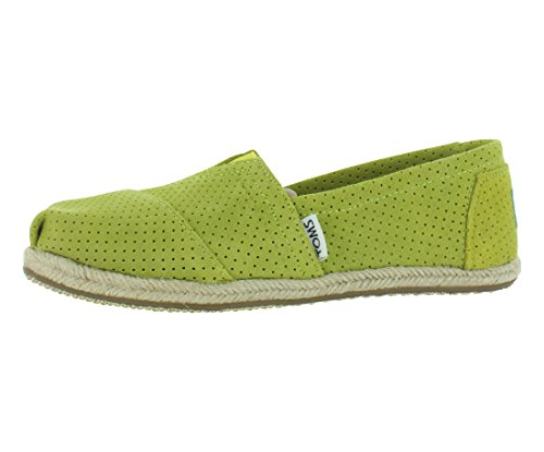 Toms Women's Classics Suede Perforated Green Casual Shoe 9.5 Women US