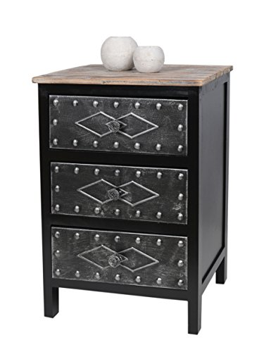 kommode schrank antik industrie design holz mit metall. Black Bedroom Furniture Sets. Home Design Ideas