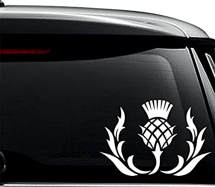 Thistle flower scotland scottish decal sticker for use on laptop helmet car truck