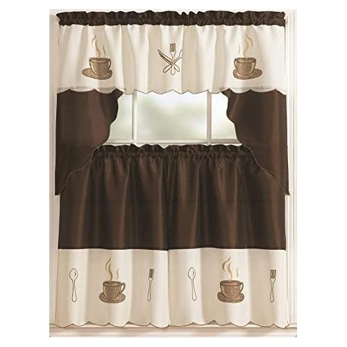 Coffee Themed Kitchen Curtains: Kitchen Coffee Curtains: Amazon.com