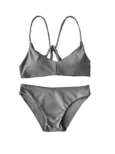 Grey Bikini Set in Australia - 2