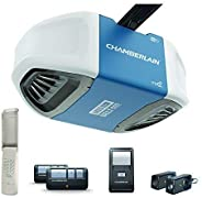 Chamberlain Group B550 Smartphone-Controlled Ultra-Quiet and Strong Belt Drive Garage Door Opener with MED Lif