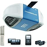 Chamberlain Group B550 Smartphone-Controlled Ultra-Quiet and Strong Belt Drive Garage Door Opener with MED Lifting Power, Blu
