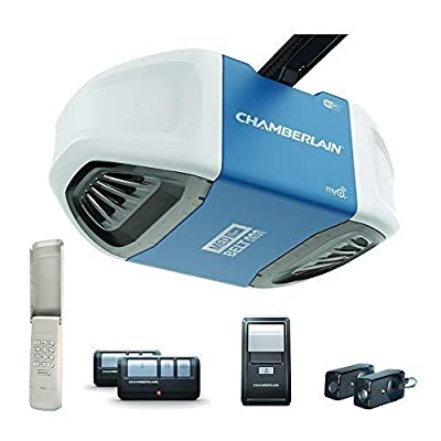 Chamberlain Group B550 Smartphone-Controlled Ultra-Quiet and Strong Belt Drive Garage Door Opener