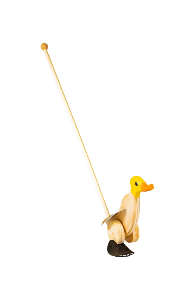 Duck Runner Wooden Push and Pull Walking Toy (Yellow) by Duck Runner (Image #5)