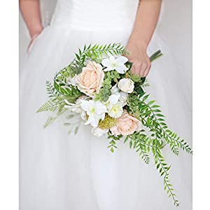 WSJS Petite Champagne Bouquet Bridal Bouquet Wedding Bouquets Elegant Atmosphere Pure Manual Artificial Fake Rose Flower Bridesmaid Bouquets 52