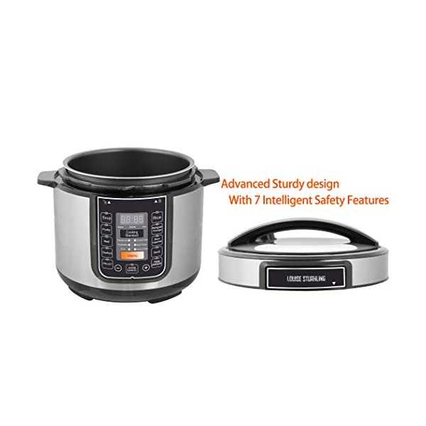 LOUISE STURHLING 10-in-1 Intelligent 6 Qt Pressure Cooker, 14 Programmed Menus, 7 Safety Features, High-Grade Stainless… 2