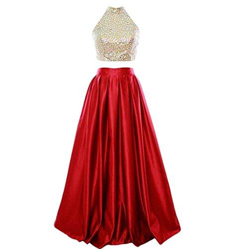 Lange Kleider Sexy Abend Kleider Bainjinbai Party Rot Cocktail Rückenfrei Formal Damen Ball Chiffon q7qw4dt