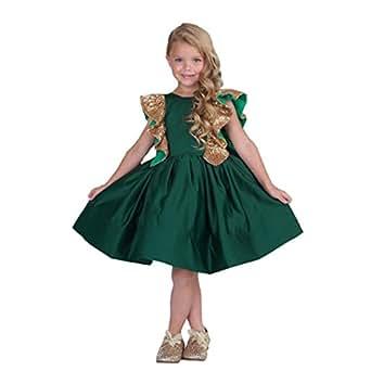 Amazon.com: Banfvting Flower Girl Dresses Emerald Green