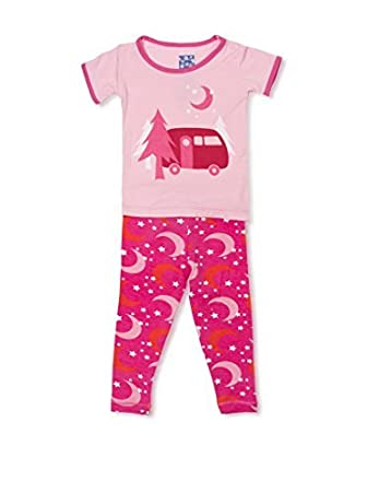 89712ddd7 Amazon.com  KicKee Pants Short Sleeve Girls Pajama Set