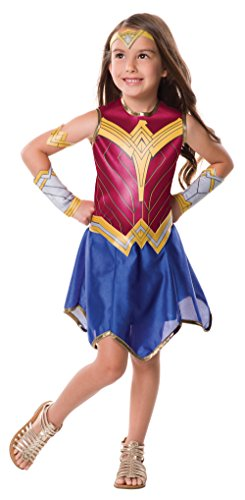 Justice League Child's Wonder Woman Costume, (Wonder Woman Halloween Costume For Girls)