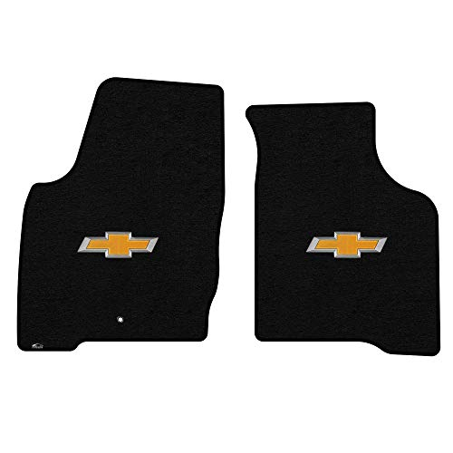 Lloyd Mats LogoMat Custom Floor Mats - Chevy Impala & Impala Limited 2006-2016 (Old Body) 2Pc Front Set Carpeted Custom Fit Mats, Black - Fits Model Years 2006-2016 (Black Chevy Carpet Impala)