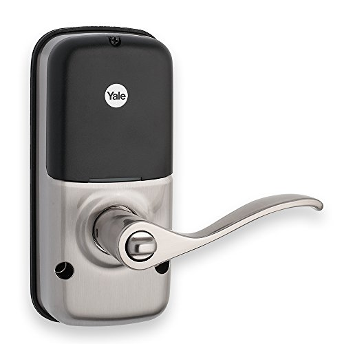 Yale Real Living Keyless Touchscreen Lever Lock in Satin Nickel (Standalone) (YRL220-NR-619) by Yale Security (Image #1)