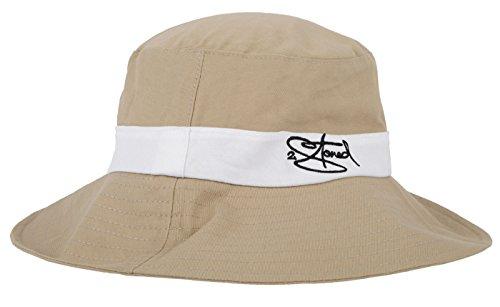 Original 2stoned Strandhut L.A. Beach Hat in Beige mit weissem Hutband Größe L/XL 60cm