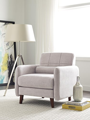 Serta Savanna Collection Arm Chair in Ivory - Dimensions: 61L x 33W x 32H in. Hardwood frame and microfiber upholstery Choose from available colors - sofas-couches, living-room-furniture, living-room - 41HCsCyu7gL -