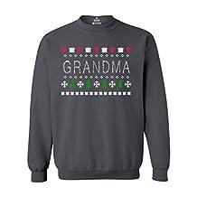 Shop4Ever Gift for Grandma Crewnecks Ugly Sweater Sweatshirts