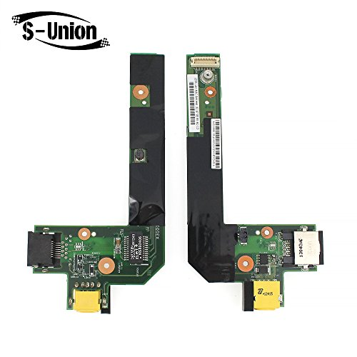 S-Union LAPTOP BOARD IBM DC POWER JACK & LAN CARD for IBM Lenevo Thinkpad Edge E520 E525 E420 E425 Series Replacement Part Number 04W2083