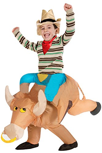[Halloween Funny Costume Inflatable Bull Cow Cattle Rider Knight Cavalier Chubsuit (Child(90-130CM))] (Bull Rider Costume Toddler)