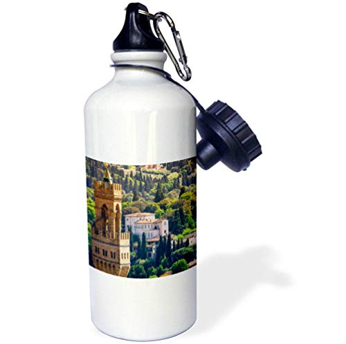 3dRose Danita Delimont - Florence - Bell Tower and Houses, Florence, Tuscany, Italy - 21 oz Sports Water Bottle (wb_313743_1)