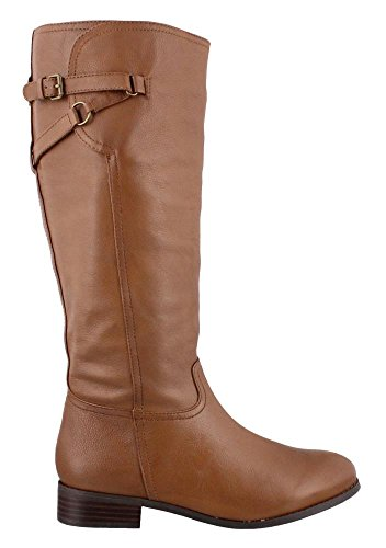 Trotters Women's Lucky Too Wide Shaft Riding Boot,Cognac ...