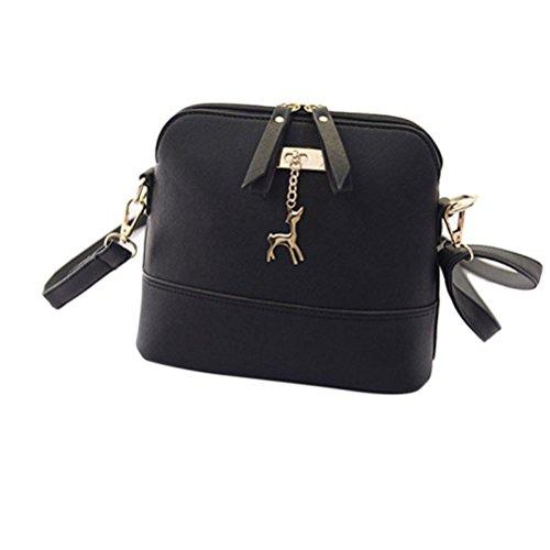 Start Women's Single Shoulder Bags Zipper Sling bag Shell Leather Handbag Casual School Student Messenger - Dicks Goods Sporting Sunglasses