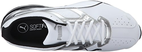 PUMA Men's Tazon 6 FM Puma White/ Puma Silver Running Shoe - 7.5 D(M) US by PUMA (Image #8)