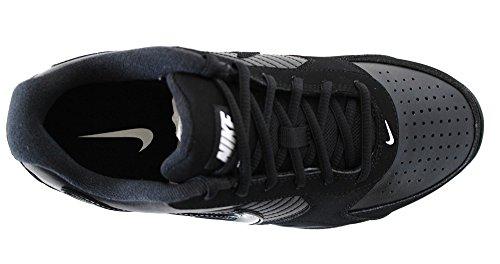 Nike Air Punta Rotonda Scarpa Da Basket In Pelle Della Linea Di Base Uomini Bassi Nero / Nero / Bianco