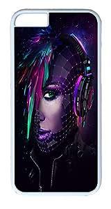 IMARTCASE iPhone 6 Case, Artistic Daft Punk Dj iPhone 6 Case TPU White