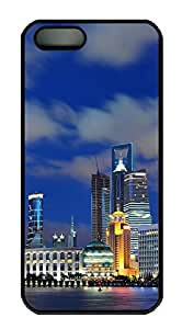 iPhone 5 5S Case Shanghai China PC Custom iPhone 5 5S Case Cover Black by Maris's Diary