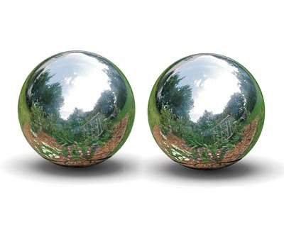 Rome Stainless Steel Gazing Balls, Silver, 12