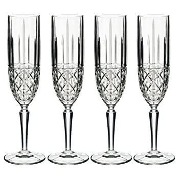 godinger dublin crystal champagne flutes set of 4 glasses champagne glasses. Black Bedroom Furniture Sets. Home Design Ideas