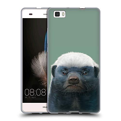 Official Vincent HIE Honey Badger Animals Soft Gel Case for Huawei P8lite / ALE-L21