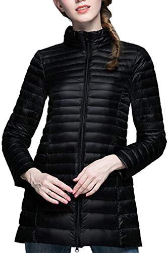Packable Le Piena Puffer Outwear Donne Slim Giacche Leggero Vepodrau Zip Black Giacca 8xdnZq