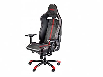 Sparco S00987FNRRS Silla Oficina/Gaming Comp V VTR Negro/Red Rojo