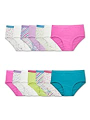 Introducing our improved cotton with extra softness, Fruit of the Loom girls' 14 pack brief is an essential addition to her collection with this value pack size. This brief is designed with breathable, 100% cotton fabric, a plush, ravel-free ...