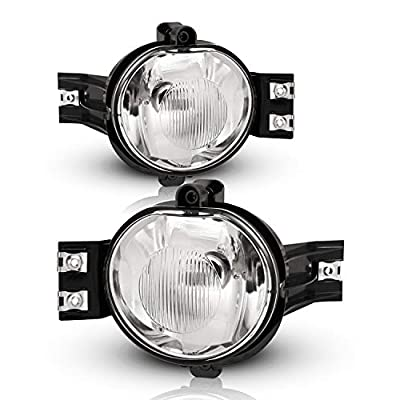 Fog Lights for 2002-2008 Dodge RAM 1500 PICKUP/ 2002-2009 Dodge RAM 2500 3500 PICKUP/ 2002-2008 Dodge RAM 4000 with Bulbs 9006 12V 51W AUTOFREE OE Fog Lamps Assembly- 1 Pair (Clear Lens): Automotive