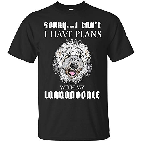 (Funny Plans with My Labradoodle T Shirt Doodle Lover Gifts Tee (Unisex)
