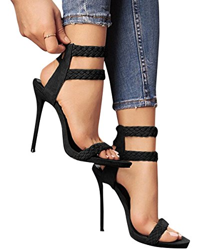 Huiyuzhi Womens Ankle Strappy Sandals product image