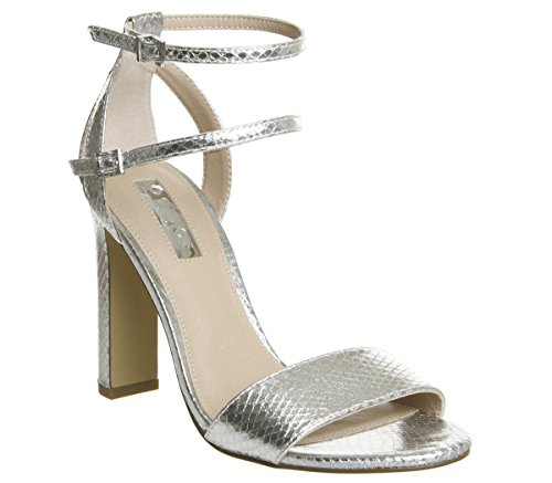 Office Hypnotize Heels with Ankle Straps Silver iD9nZpMbU