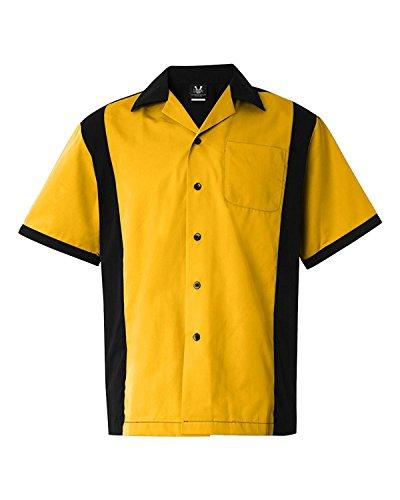 Hilton HP2244 GM Legend Bowling Shirt Gold/ Black XL Legend Bowling Shirt